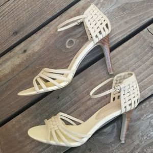 Banana Republic Shoes - Banana Republic Leather Ankle Stapped Heels